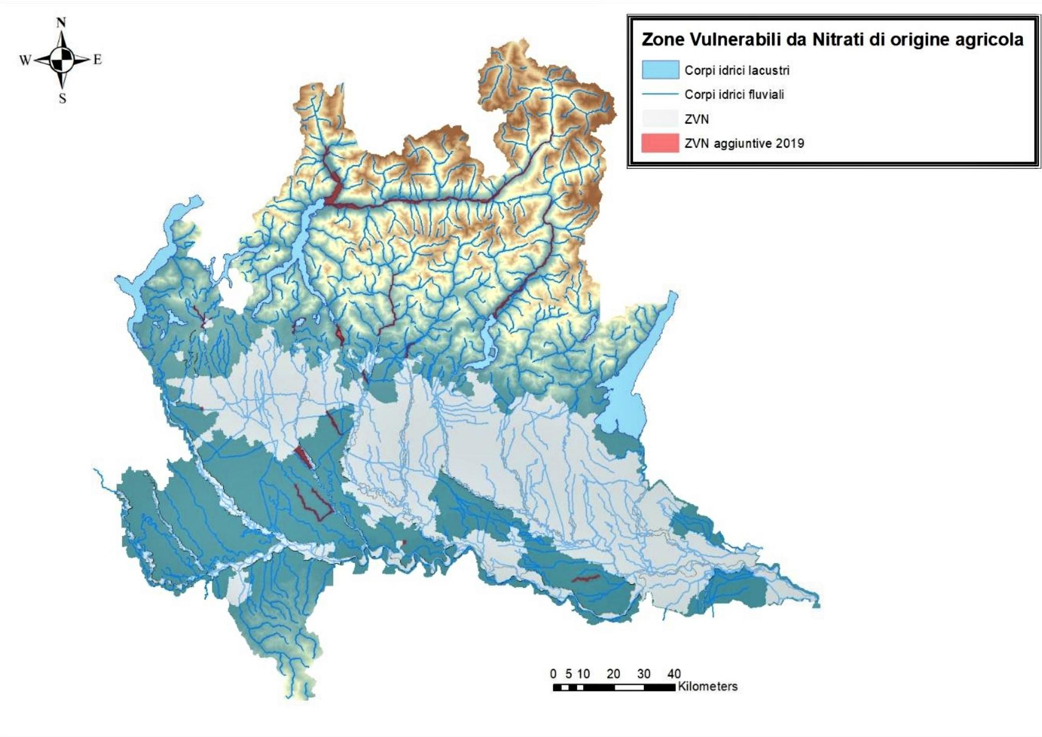 Cartina Economica Lombardia.Le Zone Vulnerabili Ai Nitrati