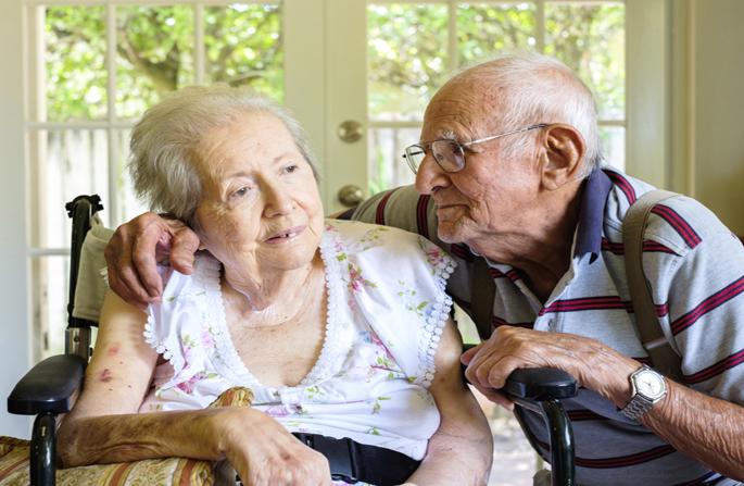 Donna uomo anziani