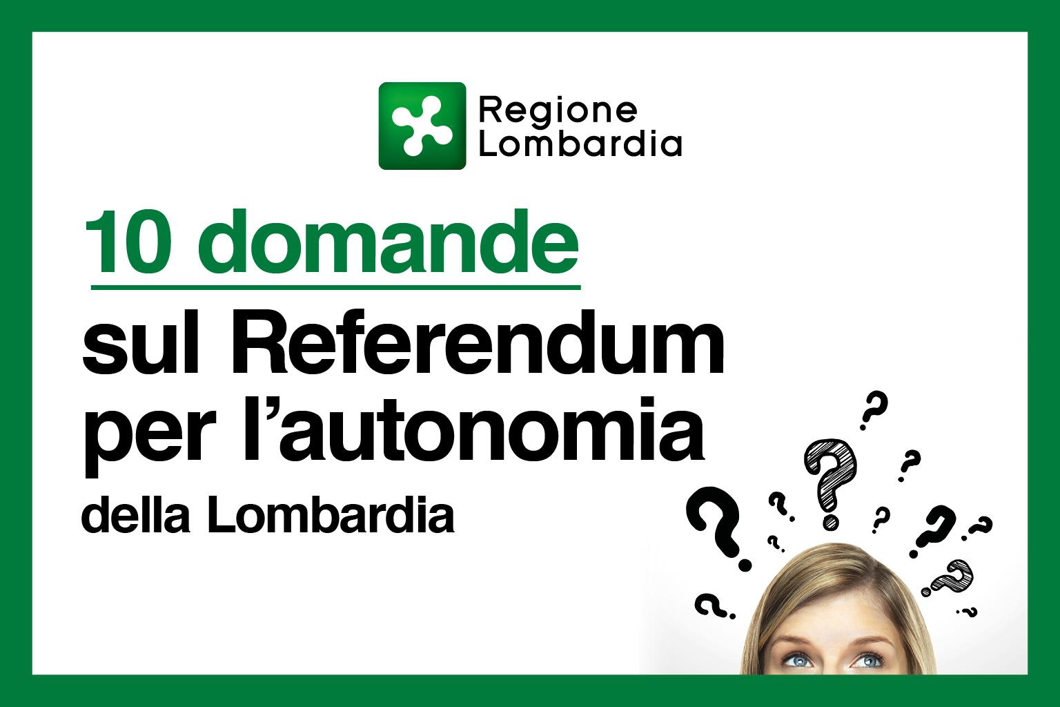 Domande sul referendum del 22 ottobre 2017